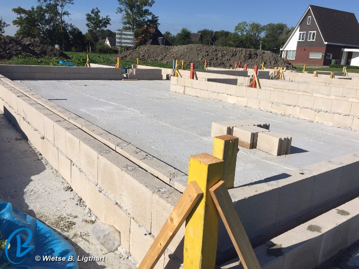 Fundering En Beganegrondvloer Voor Woningbouwproject In Wommels
